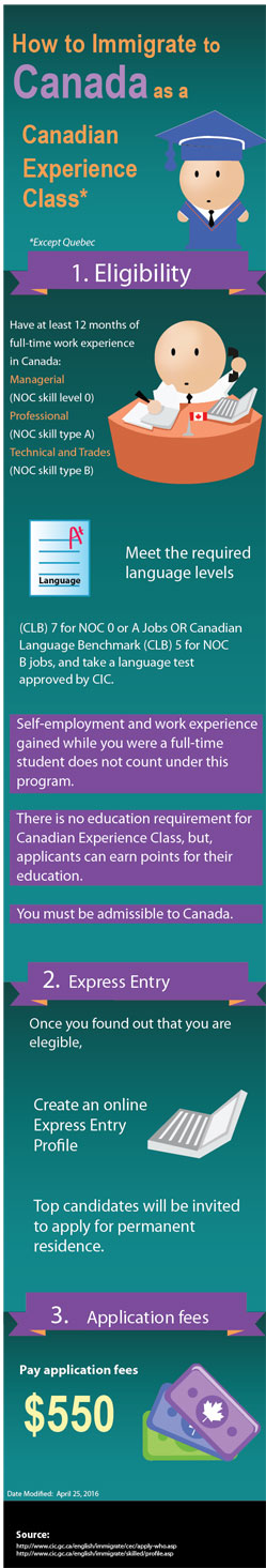 Canadian Experience Class Visa Infographic