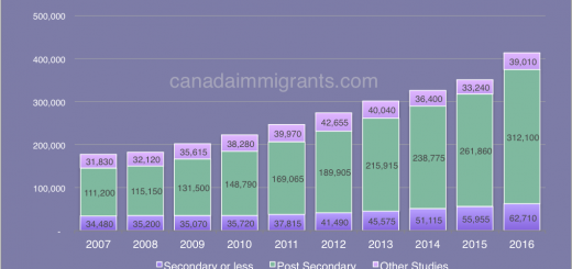 Canada International Students by Level